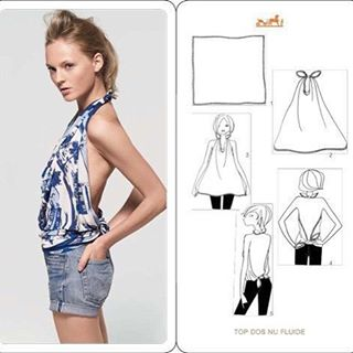 How to wear scarf as a topsilkhermesprojectcreativityfashiondesignlifeiscreative