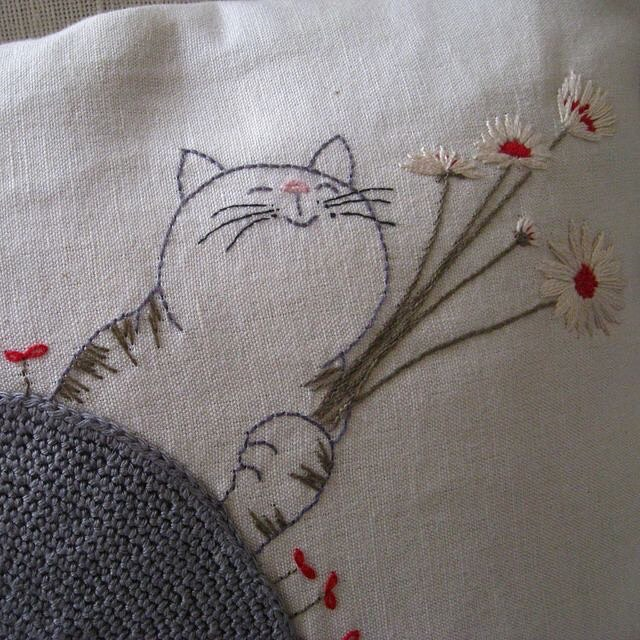 Embroideryembroiderycatsofinstagramvision