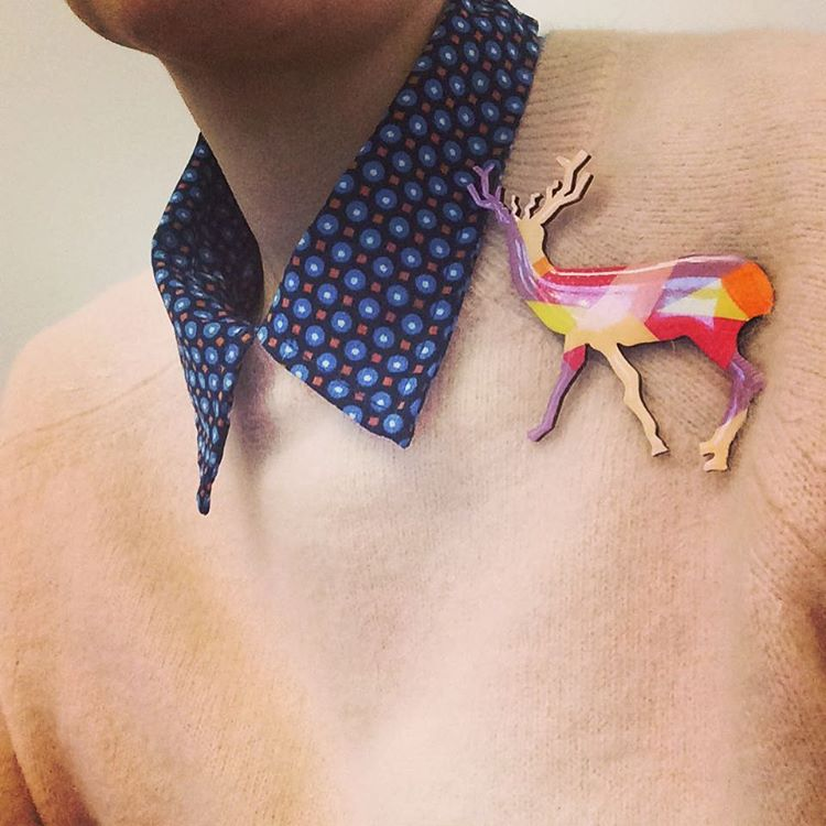 Power animal deer deerwhisperer deerbrooch pastelwardrobe animalpower animalkingdom shamanism