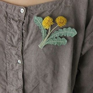 Brooch springiscoming floarenpiept brooch ppdie dandelion fabricbrooch