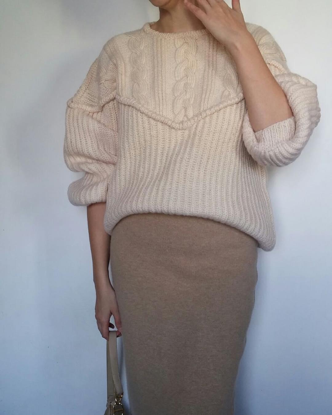 Beige serenity beige knit culturavintage maxmaraskirt handmadesweater iloveknit beinspired neutraloutfithellip