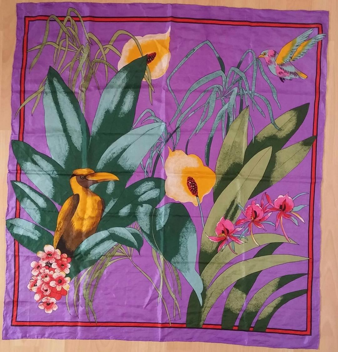 Silk scarf print tropicalprint springbreak vividcolours tropical silkscarf silkscarfsquare ilovetropicalprintshellip